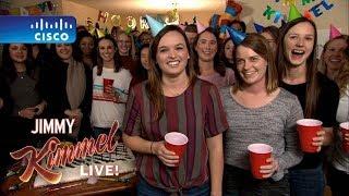 Seattle Woman Celebrates Jimmy Kimmel