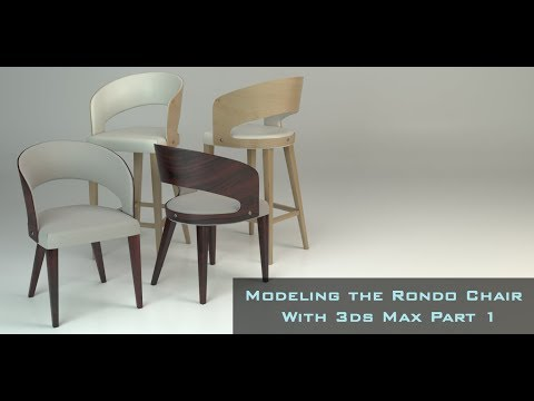 Modeling the Rondo Chair in 3ds Max Part 1