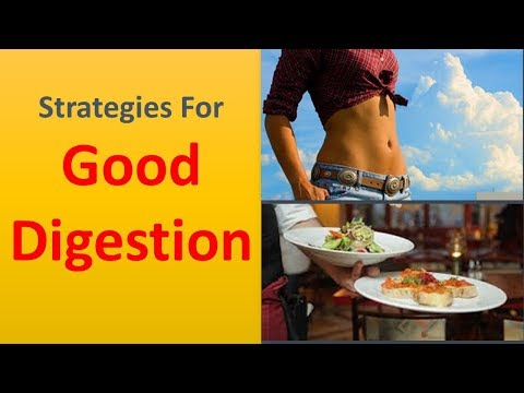 Strategies for good digestion.|Sip warm water.
