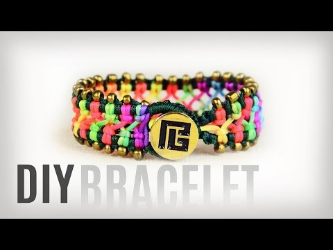 DIY Easy Beaded Macramé Bracelet with Button Clasp