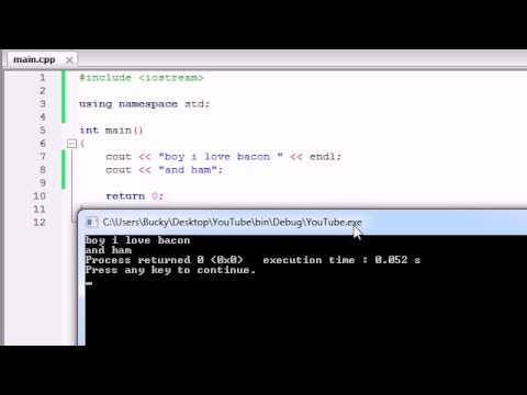 Buckys C++ Programming Tutorials - 3 - More on Printing Text