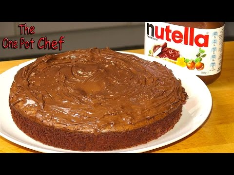 3 Ingredient Nutella Fudge Cake   One Pot Chef