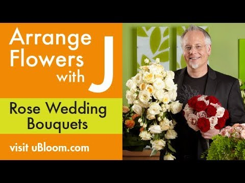 How to Create an All Rose Wedding Bouquet!