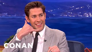 Meeting Obama Made John Krasinski & Emily Blunt Lose Their Minds  - CONAN on TBS