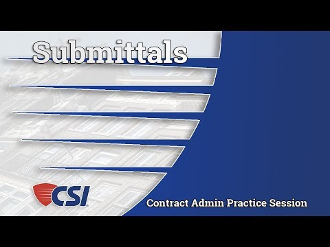 Intro to Construction Contract Administration  - Chapter 5: Submittals