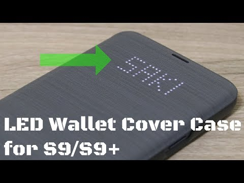 Official Samsung Galaxy S9 LED Wallet Cover Case - Detailed Review
