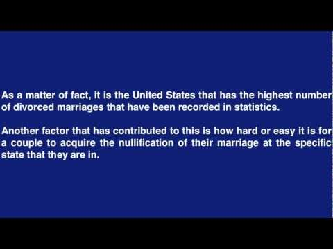 Divorce rate in the United States