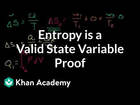 Proof: S (or entropy) is a valid state variable | Thermodynamics | Physics | Khan Academy