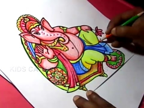 How to Draw Lord Ganesha Drawing for Kids Step by step
