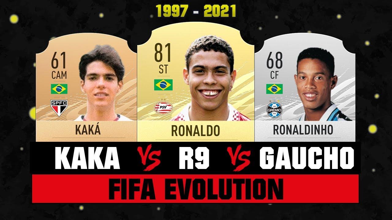 Ronaldo VS Ronaldinho VS Kaka FIFA EVOLUTION! 😱🔥  FIFA 97 - FIFA 21