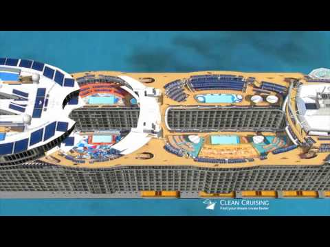 Oasis of the Seas Fly-by in Google Earth
