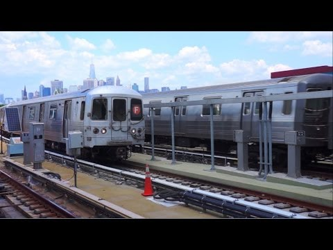 ᴴᴰ RARE: Manhattan Bound? G Express train meets Coney Island Bound F express Train at Smith 9 St