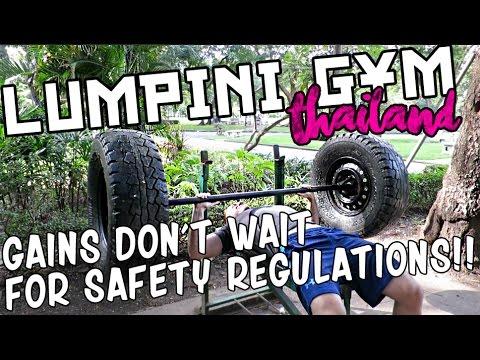 CRAZY OUTDOOR GYM IN THAILAND - Lumpini Gym Bangkok - homemade equipment