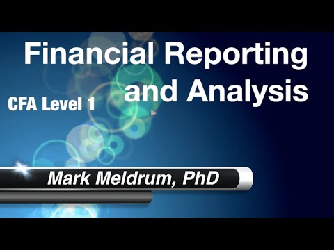 18.  CFA Level 1 Financial Reporting and Analysis Reading 24 LO4 Part 1