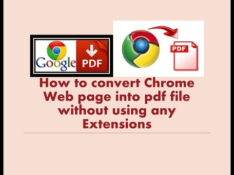 How to convert chrome web page into pdf file