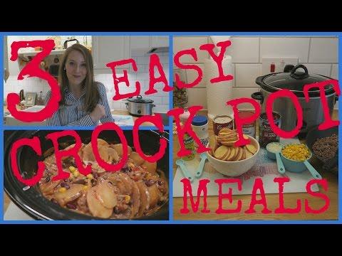 3 EASY CROCK POT MEALS//FREEZER MEALS!