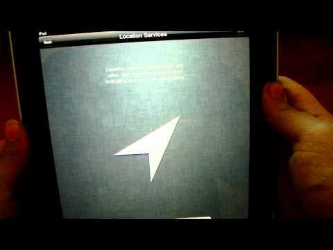iOS 5 Setup Screen