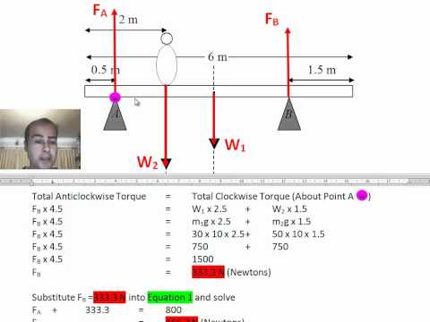 Physic Lesson Balanced Torque Part 2 of 2.mp4