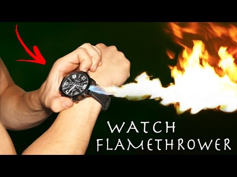 Make a Real FLAMETHROWER Spy Watch! - Insane 5 Foot Flame!!!