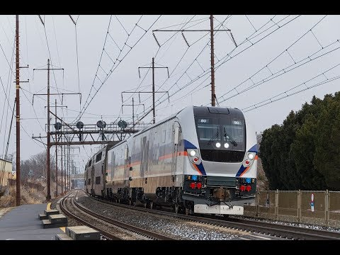 MARC Train Siemens Charger SC-44's testing on the Northeast Corridor