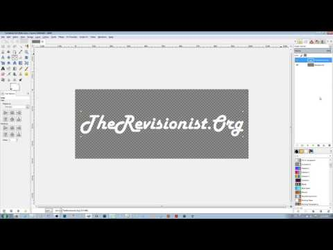 How to Make a Logo with a Transparent Background in GIMP