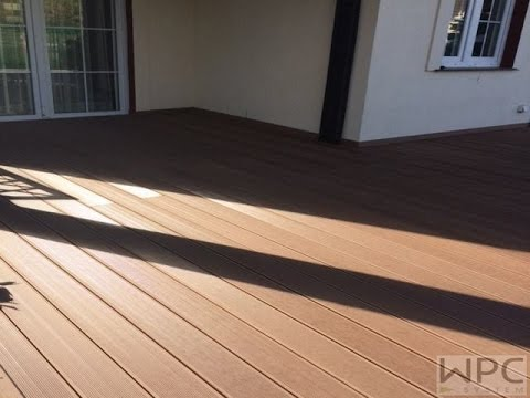 inastall wpc decking on uneven ground