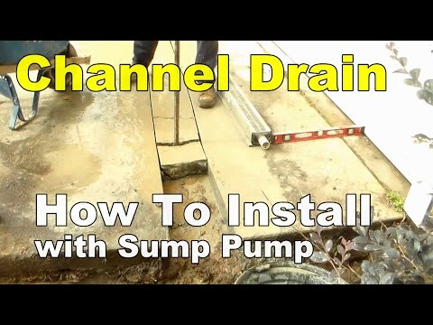 How To Install Diveway Channel Drain with Sump Pump Discharge