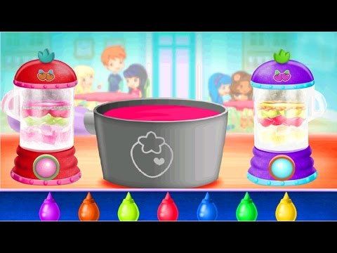 Kids learn how to make Strawberry Shortcake and Smoothies - Kids Cooking Game Video & Recipes