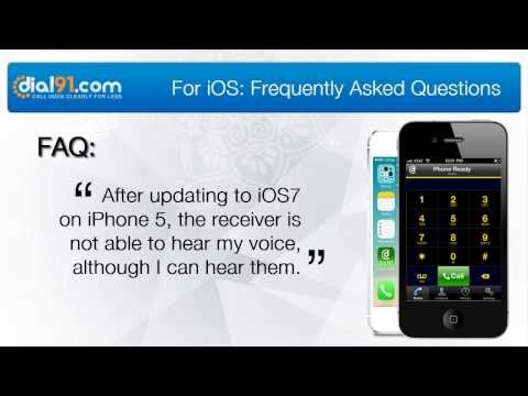 After updating to iOS 7 on iPhone 5, The receiver is not able to hear my voice