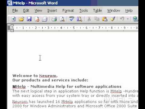 Microsoft Office Word 2003 Preview a document as a Web page