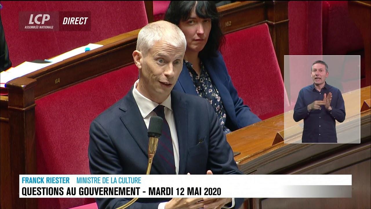 Question d'Elsa Faucillon à Franck Riester, année blanche et intermittents invisibles - 12 mai 2020