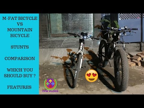 M-FAT BICYCLE VS BTWIN MOUNTAIN BICYCLE | STUNTS | WHICH ONE TO BUY ? | FAT BIKER VAIBHAV |