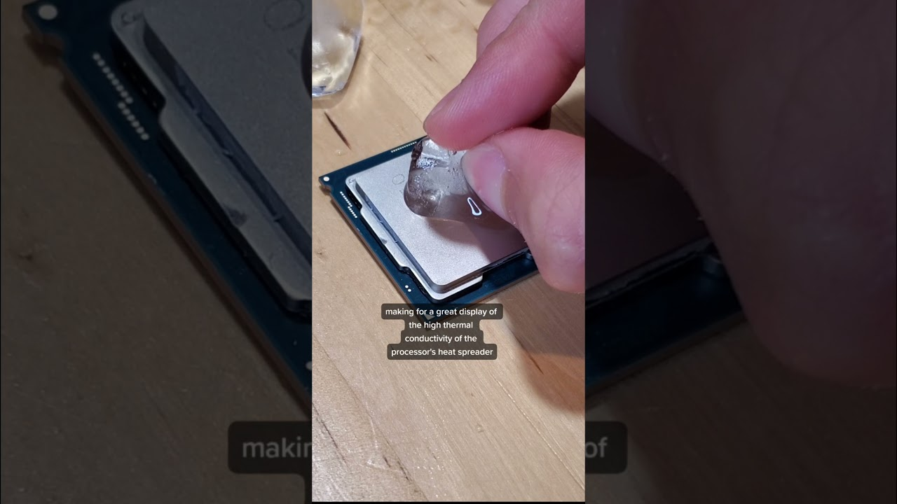 what happens if you put ice on a cpu? #shorts
