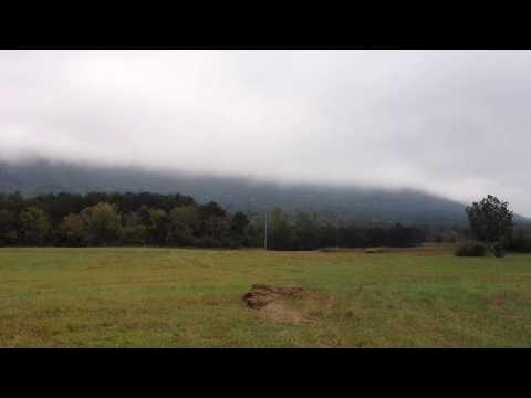 Phil Lea's 20.75 acres in Ocoee TN. Clouds on Chilhowee Mtn.