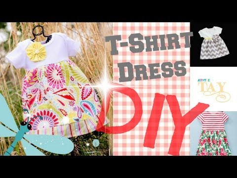 DIY Easy T-Shirt Dress  2 Minute Tutorials