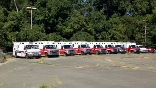ABANDONED CAR TOWN ( tons of abandoned fire trucks and ambulances )