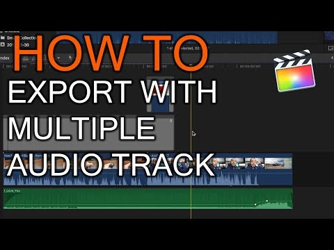 How to export movie from FCPX and with multiple audio track