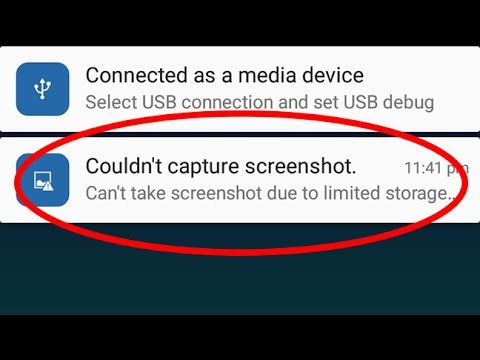 Fix Couldn't capture screenshot-Can't take screenshot due to limited storage space