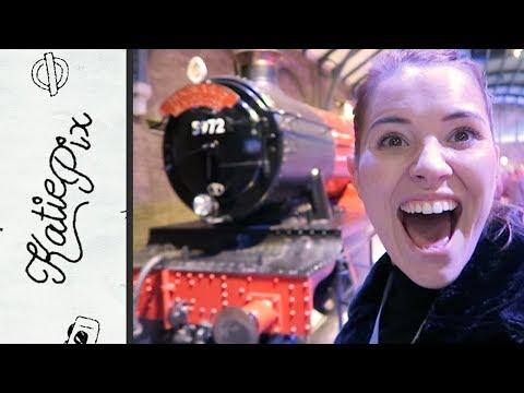 HOGWARTS IN THE SNOW, HARRY POTTER STUDIO TOUR | Vlog 065 | Katie Pix