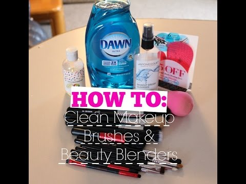 How To | Clean Makeup Brushes & Beauty Blenders | KaylaErin