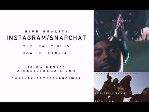 Instagram TALL Videos: Make HD Video for your IG Story | How To Edit Tutorial