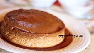 Caramel Custard in Cooker / Steamer