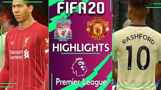 Liverpool vs Manchester United | FIFA 20 PREMIER LEAGUE 2019/20 | Gameweek 23 Highlights