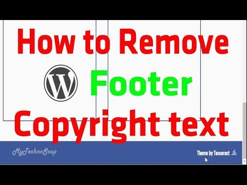How to Remove WordPress Footer Credits ||  Edit Footer Copyright Text In Any WordPress Theme