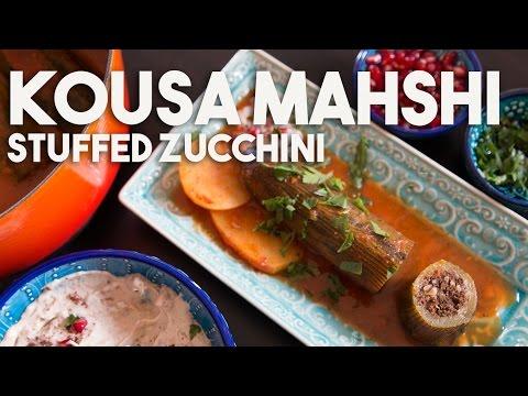 KOUSA Mahshi - Stuffed ZUCCHINI with MEAT & rice