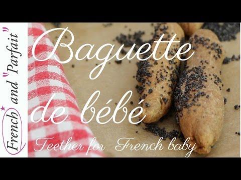 Baguette for baby: easy teething cookies recipe