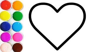 Apremde LOS COLORES con Corazones - Dibujos Para Niños - Learn Colors / FunKeep