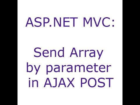 ASP.NET MVC: Send Array by parameter in AJAX POST