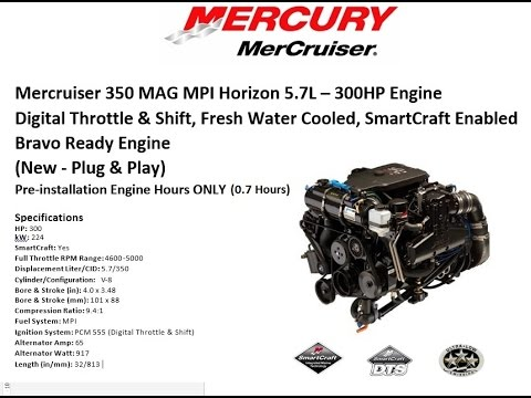 Mercruiser 350 MAG MPI Horizon DTS FWC 5.7L – 300HP Engine