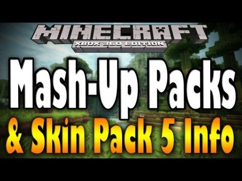 Minecraft Xbox - NEW TU12 MASH-UP PACKS & SKIN PACK 5 PREVIEW (Texture Pack Info)